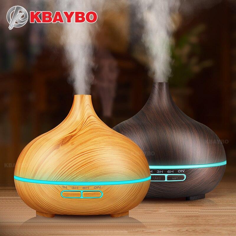300 ml Luftbefeuchter Ätherisches Öl Diffusor Aroma Lampe Aromatherapie Elektrische Aroma Diffuser Nebel-hersteller für Home-Holz
