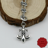 925 sterling silver pendant necklace sweater chain punk fashion rock style personalized jewelry anchor shape 2019 new hot sale