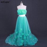 Vintage A Line Green Color Evening Dresses Evening Dresses Tulle Formal Dress Robe De Soiree