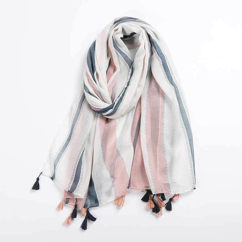 Fashion Women   Scarf   Vertical Multicolor Stripes Print   Scarf     Wraps   Shawl Soft   Scarves   Female Tippet Foulard Cachecol Shawl
