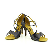 YOVE Dance Shoes Women's Latin/ Salsa Dance Shoes 3.5″ Slim High Heel More color LD-6138