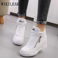 Luxury Brand Womens Shoes Platform Sneakers Tenis Feminino Zapatillas Mujer Casual Basket Femme 2017 Designer White