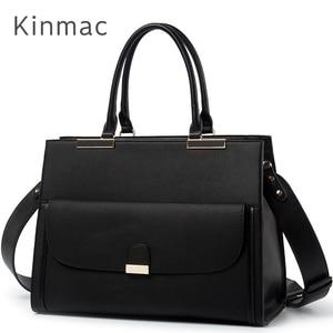 """Image 1 - 2020 موضة العلامة التجارية Kinmac سيدة بولي Leather حقيبة يد جلدية رسول حقيبة كمبيوتر محمول حقيبة 13 بوصة ، الحال بالنسبة لماك بوك اير برو 13.3 """"، دروبشيب 008"""