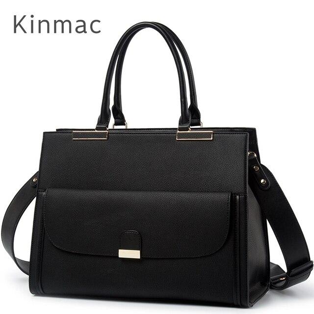 """2020 موضة العلامة التجارية Kinmac سيدة بولي Leather حقيبة يد جلدية رسول حقيبة كمبيوتر محمول حقيبة 13 بوصة ، الحال بالنسبة لماك بوك اير برو 13.3 """"، دروبشيب 008"""