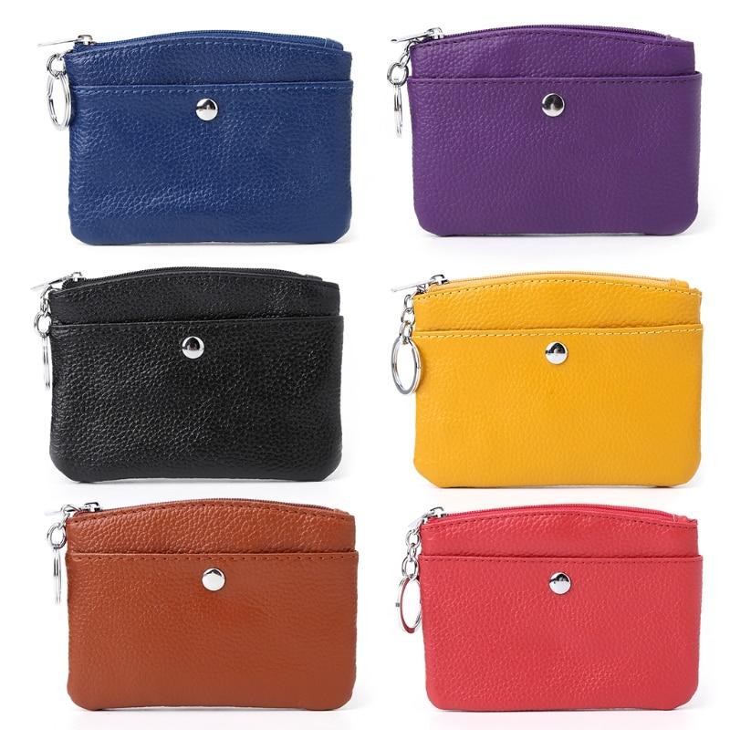 Women Men Coin Card Key Ring Wallet Pouch Mini Purse Zipper Small Change Bag acme studios master key ring kao50kr