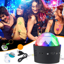 Portable Mini 3W 5V USB Rechargeable RGB Disco Ball Party Lights Sound Activated Led Stage Light for Car Birthday DJ Club sound activated el car decoration sticker crazy urban disco