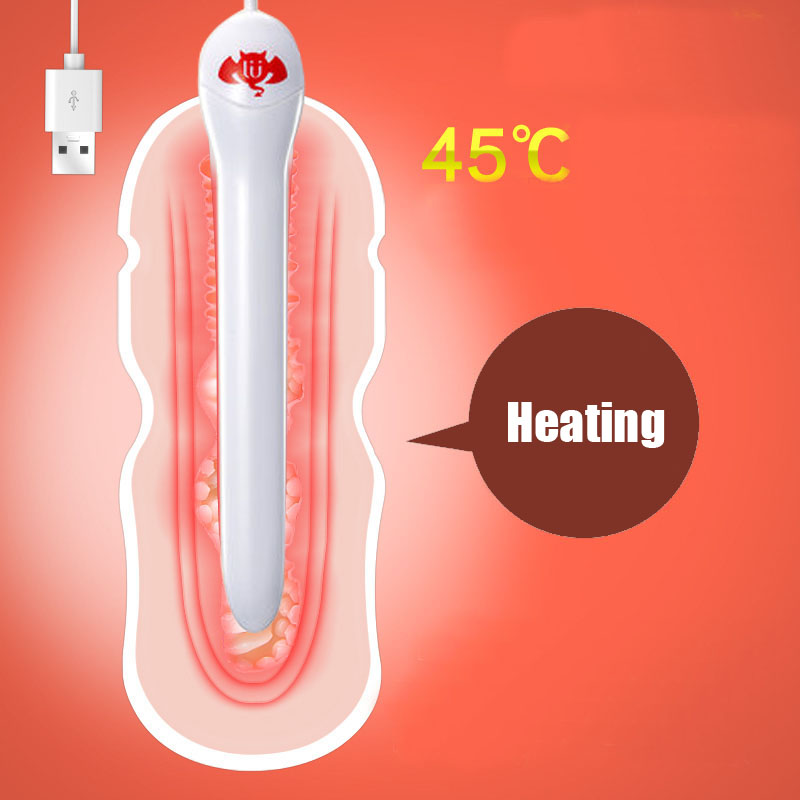 Smart Thermostat Usb Heating Rod For Masturbators 45 Celsius Sex Toys For Men Heated Bar Stick Anal Vagina Warmer Adult Shop Abs