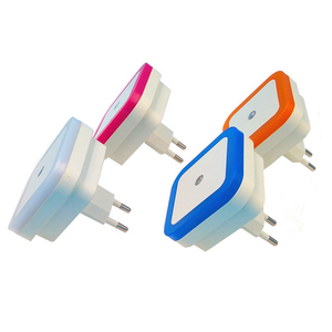 Image 3 - Czujnik światła nocna kontrola światła Mini ue wtyczka amerykańska nowość kwadratowa lampka do sypialni na romantyczne kolorowe światła