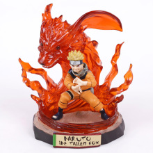 цена на Naruto KG Uzumaki Naruto Nine Tailed Fox Ver. GK Statue PVC Figure Collectible Model Toy