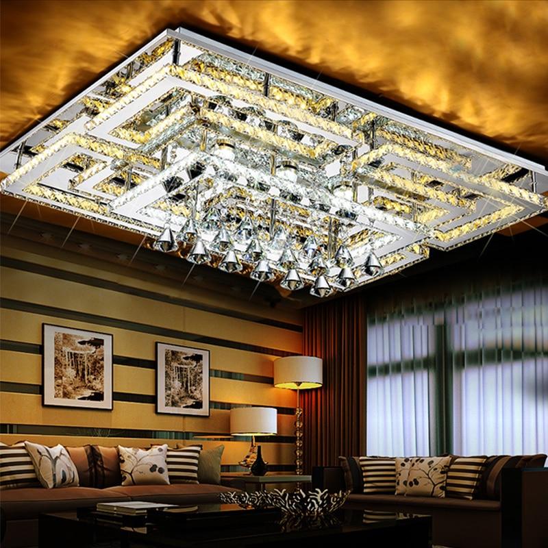 Modern crystal chandeliers lighting for Livingroom Bedroom hotel home led chandeliers light lamp lustre cristal techo luminaire modren livingroom bedroom lamp 3 6 8 lamps dome light chandelier lights for home decoration cloth lampshade chandeliers light