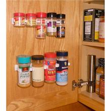4PCS/SET Spice Rack Storage Wall Rack 20 Cabinet Door Spice Clips Spice wall Rack Kitchen Good Helper