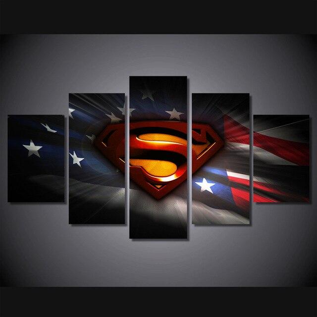HD напечатанный кино Супермен Книги по искусству Pic живописи Детская комната Декор Принт плакат картина холст картины без рамы ...