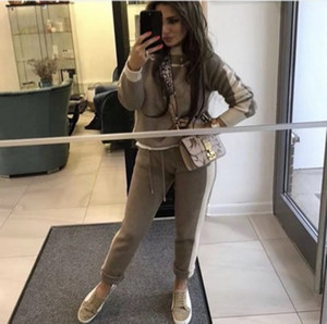 Image 5 - Woman Tracksuits 2018 Autumn Fashion Turtleneck Sweater + Slim Pants Knitted Suits Ladies Stripe Two Piece Set Twinset 2 Pcs Set