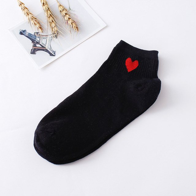 Women's Candy Color Breathable Cotton Socks