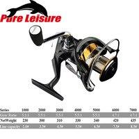 PureLeisure Knobs Fishing Reel 5.5:1 Super Large Spool Saltwater Spinning Fishing Reel Carp Fishing Wheel 1000 7000 Series