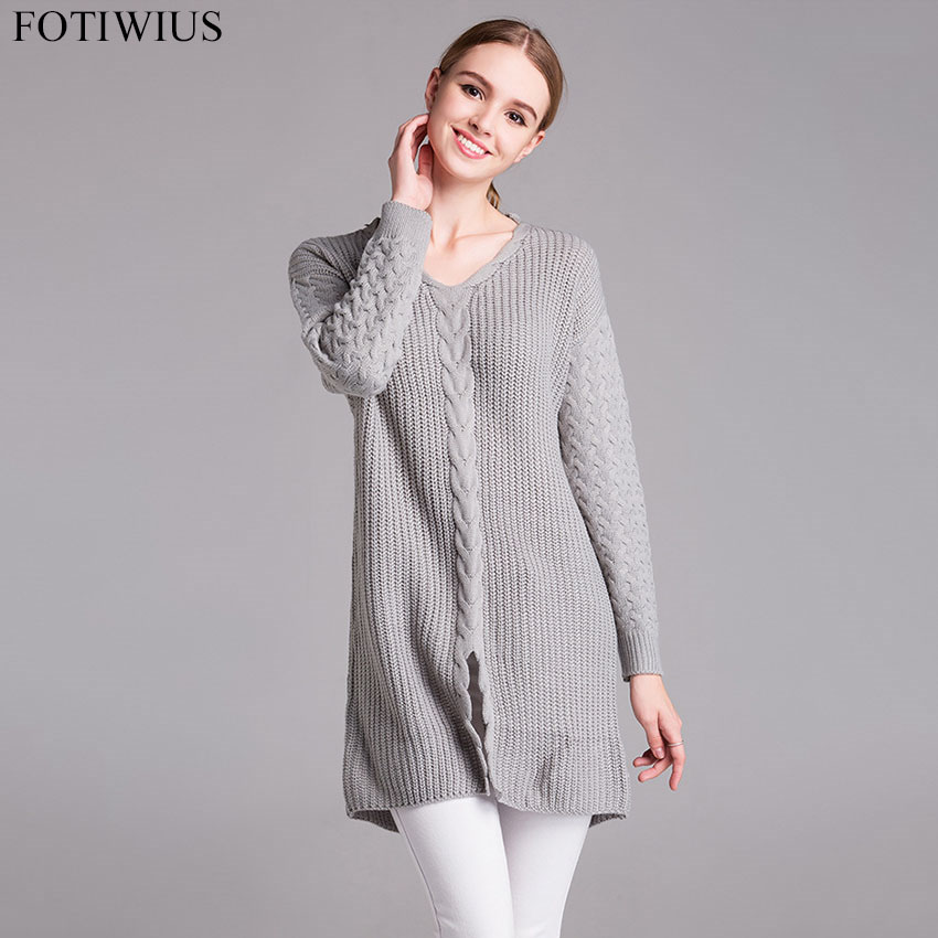L-5XL 2017 Autumn Winter Oversized Knitted Sweater Women Sweaters And Pullovers Casual Loose Pull Femme Puls Size Women Clothing