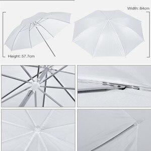 Image 5 - Photo studio kit de iluminação 2x3m sistema de suporte de fundo com 4pcs pano de fundo fotografia led luz softbox guarda chuva tripé suporte