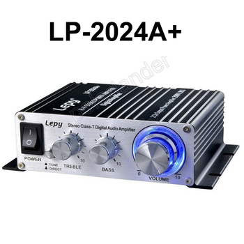 LP-2024A+ Hi-Fi mini car amplifier 2*20W 2CH Output Power home amplifier 12V Digital Stereo Amplifier