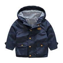 Baby Hooded Coat 2018 Autumn Winter New Boys Girls Children's Long-sleeved Casual Coat Windbrecker Jackets 3-10T