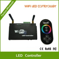 DHL Free shipping Wifi LED Controller for smart Phone with RF Touch Screen Remote for RGB LED Strips