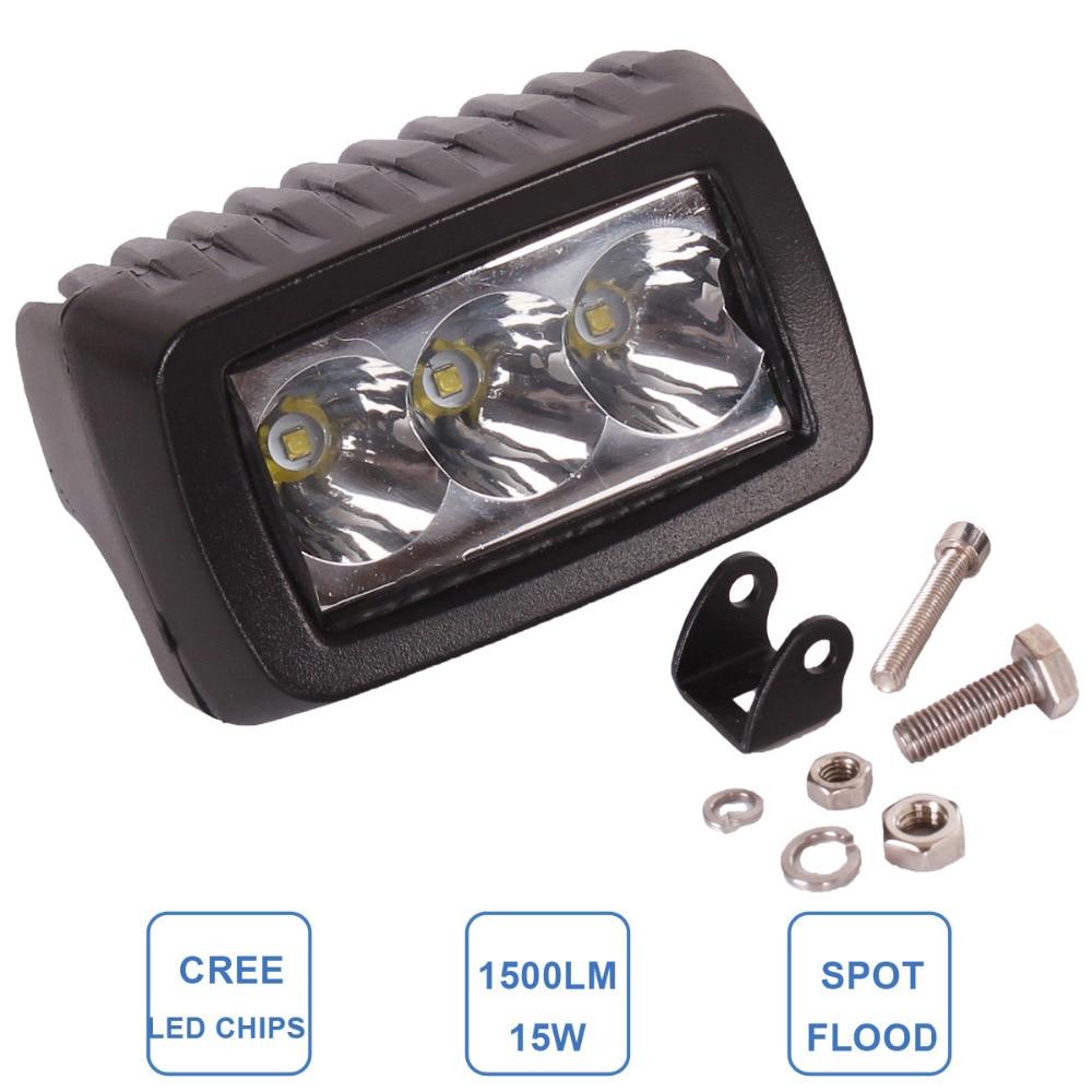 15W Worklight LED Fog Lamp Car ATV SUV 4WD UTE Motorcycle Truck Off Road Headlight DRL 12V 24V 4WD 4X4 Indicator LED Work Light