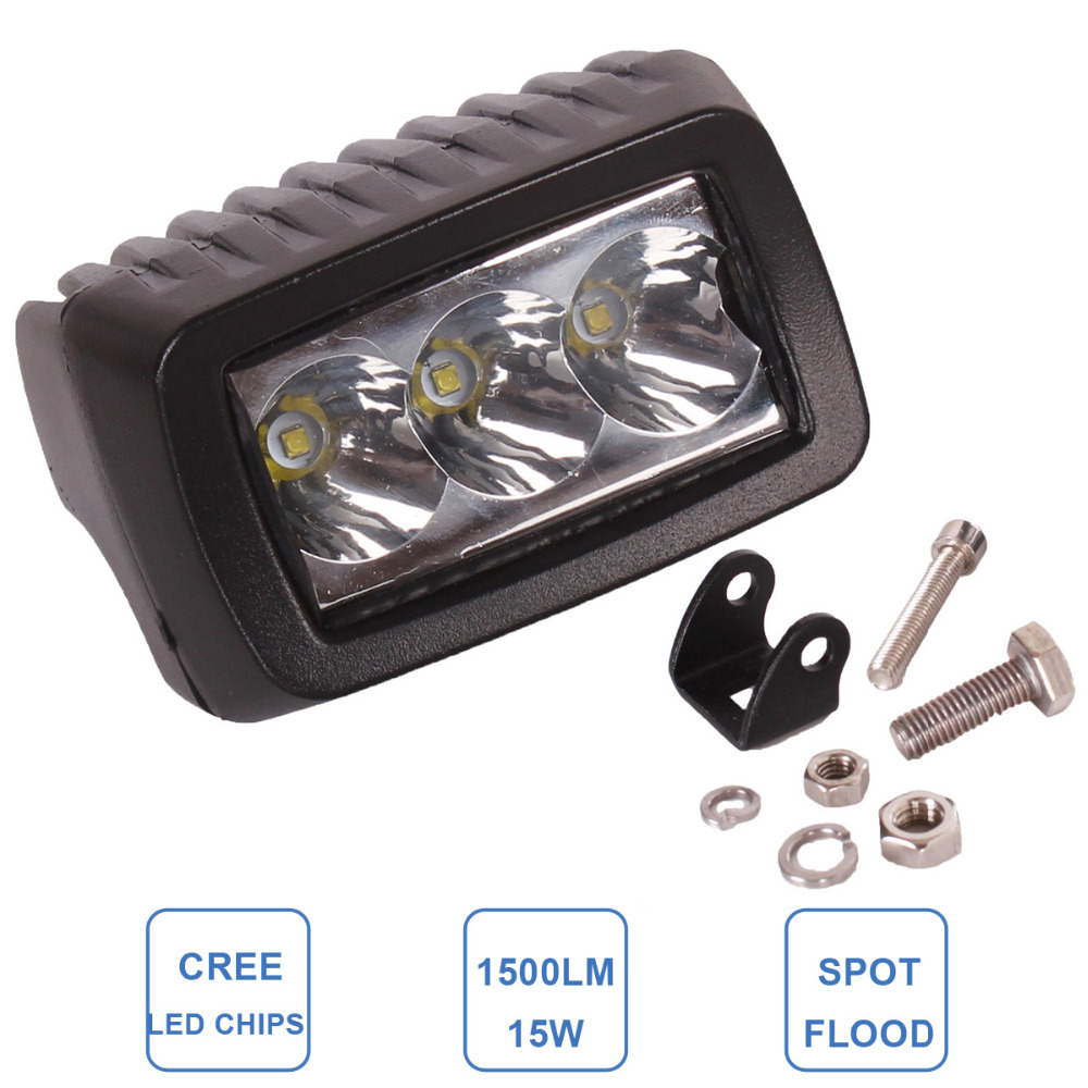 15W Worklight LED Fog Lamp Car ATV SUV 4WD UTE Motorcycle Truck Off Road Headlight DRL 12V 24V 4WD 4X4 Indicator LED Work Light