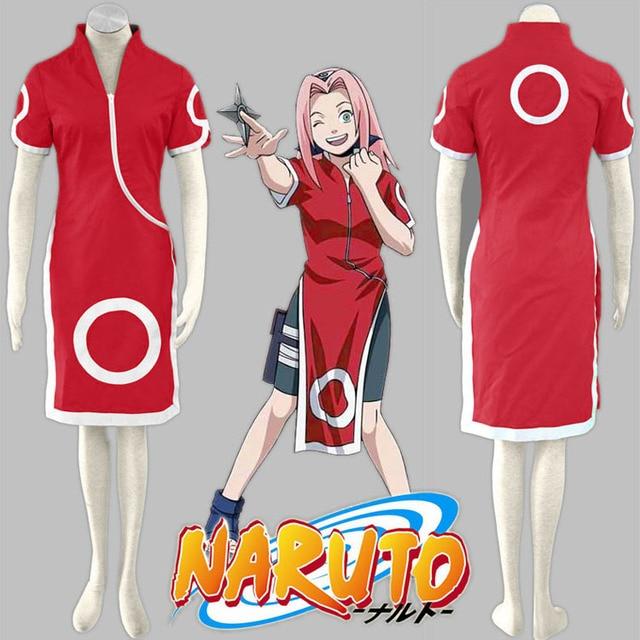 Free Shipping TPRPCO Naruto Sakura Haruno Cosplay Costume Anime Disfraces  Halloween Costume For Girls 89d08e140dbf