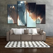 Top-Rated Canvas Print Painting 4 Pieces Deep Feeling Princess Mononoke And Wolf Poster Modern Artwork Home Decorative Wall