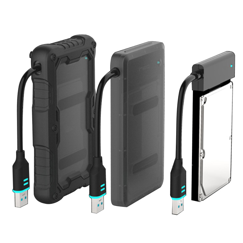 Waterproof 3 In 1 Mobile HDD Enclosure Case USB 3.0 To SATA HDD Hard Drive External Enclosure Case Dropproof