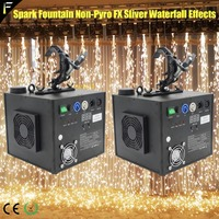 2pcs Stage Dj Effect Hanging Spark Fountain Machine Fire Sparkle Sprinkler Top Spout Spark Headspout with Clamp Wedding Party