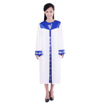 acaa7d7817ae4 US $57.15 6% OFF|High quality Chiffon Christian clothes Vatican Jerusalem  poetry choir robe clothing garments church choir gown Christian Robe-in  Asia ...