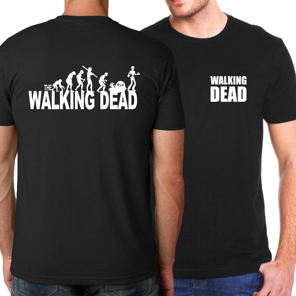 Men's 2019 summer T-shirts The Walking Dead 100% cotton Crossfit T-shirt hip hop casual t shirt men harajuku kpop blouse homme