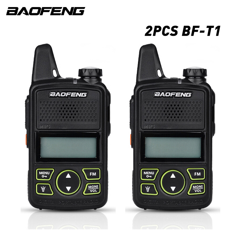 2pcs/lot Baofeng Mini Walkie-talkie BF-T1 Ultra-thin Mini-front Walkie-talkie UHF 400-470MHz FM Transceiver Portable Civilian Wa