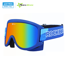 ROCKBROS Skiing Glasses Double-Layer Anti-Fog MTB Cycling Snow Snowboard Goggles Ski Mask Eyewear For Adults And Children