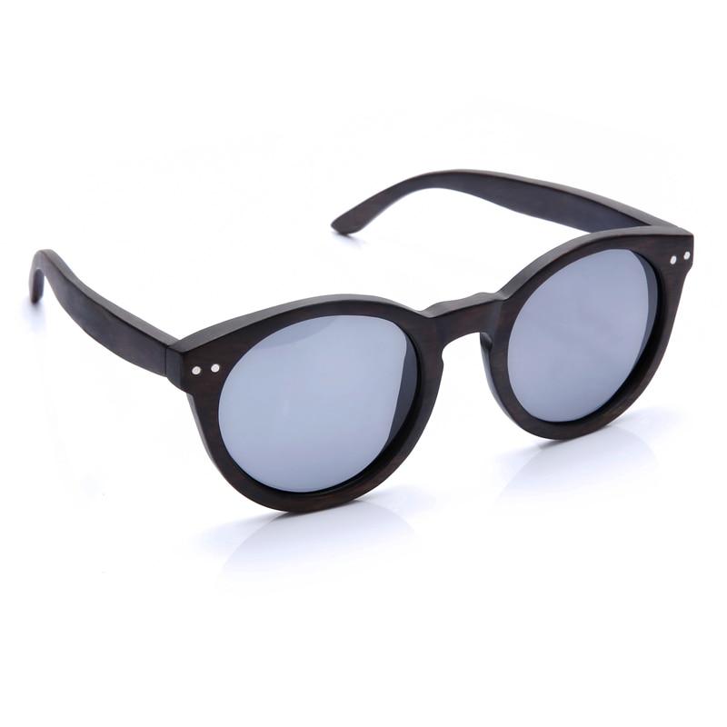 2018 Dames Heren Cateye Houten Zonnebril Vintage ronde zonnebril - Kledingaccessoires - Foto 5
