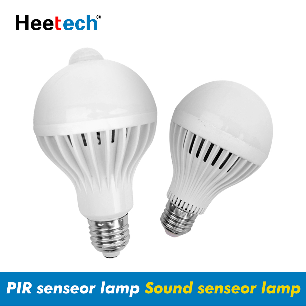 E27 LED PIR Motion Sensor Lamp Smart Light Bulb 5W 7W 9W AC 110V 220V Led Lamp Night Infrared Body Sound Light For Home Stair