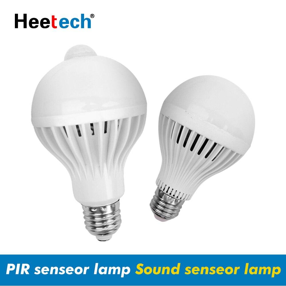 E27 LED PIR Motion Sensor Lamp Smart Light Bulb 5W 7W 9W AC 110V 220V Led Lamp Night Infrared Body Sound Light For Home Stair