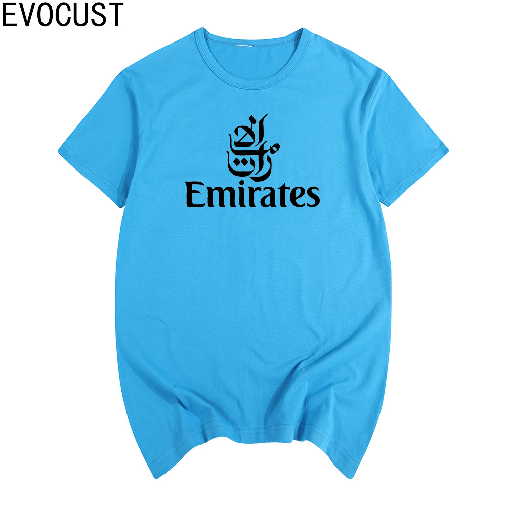 AIRWAYS EMIRATES Airlines flight men short sleeve T-shirt new arrival Fashion Brand t shirt for men summer
