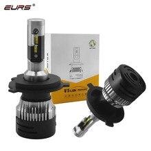 EURS 2PCS H4 H7 LED V5 Car Headlight Bulbs H11 H1 H3 9005 9006 H13 Hi-Lo Beam 6000K CSP Chips Auto Headlamp Led Light DC12v 24v eurs mini6 2pcs car headlight bulbs led h1 h4 led h7 40w 12v 24v auto bulb led h3 h7 h10 car headlight bulbs 6000k