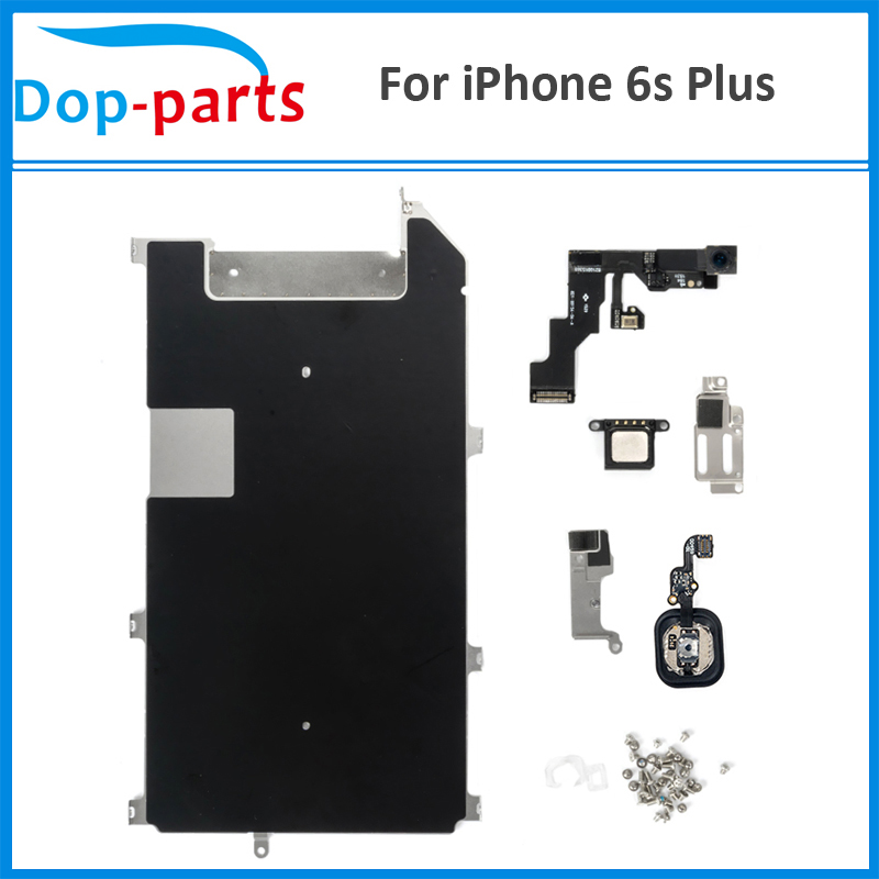 Dop-parts LCD Repair Parts For iPhone 6S plus Touch Display Metal Bracket Front Camera Earpiece Speaker Plate+Home Button image