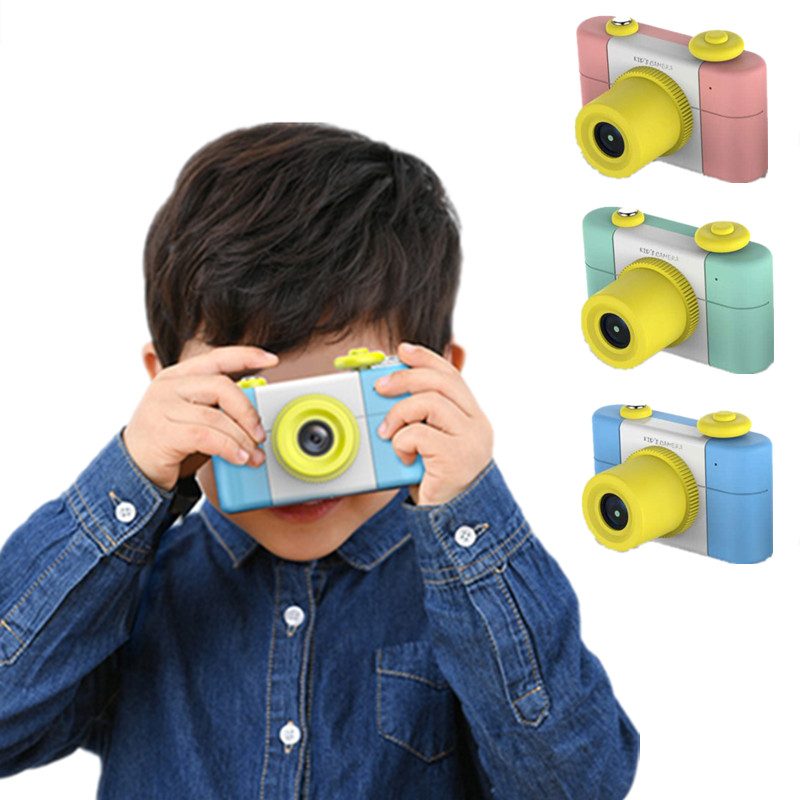 Cartoon 1.5 Inch 2MP Mini Shoot LSR Cam Digital Camera for Kids Baby Multifunction Camer ...