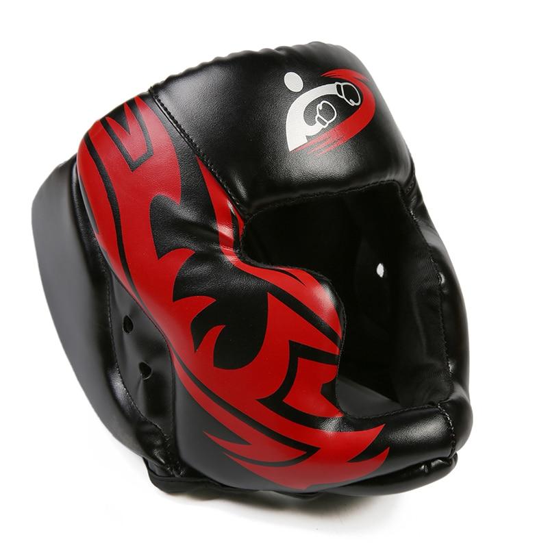 2018 New Free Size Muay Thai Boxing Taekwondo MMA Helmet Head Protector Karate Sparring Kickboxing Protective Headgear DDO