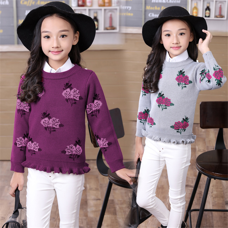 Baby Girls Sweater Winter Cartoon Rose Bear Kids Clothes Girl Pullover Knitwear Children Cardigan Warm Knitting Clothing 70W0055 vhs50 06a new original authentic smc pressure relief valve manual valve vhs50 06