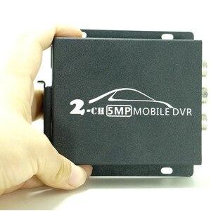 Image 2 - 2018 חדש 2ch מיני AHD DVR הנייד DVR תמיכת CVBS/AHD 5.0MP/כפול כרטיס SD HD 1080 p 2 ערוץ רכב אוטובוס DVR עם שלט רחוק