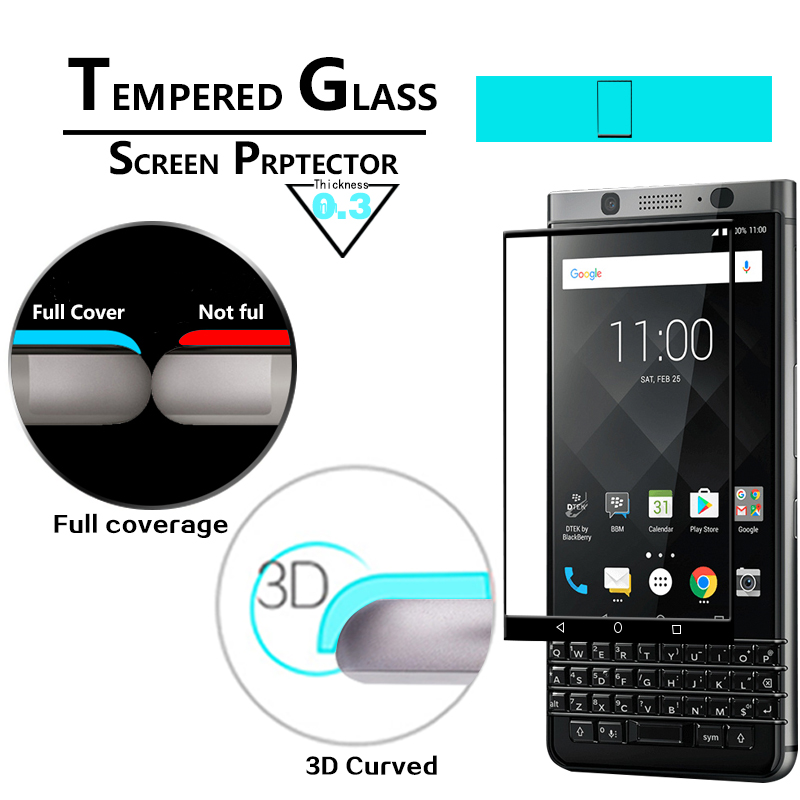 Full Cover 3D Curved Tempered Glass film For Blackberry DTEK 70 Mercury KEYone Glass film screen Protector Film Anti-Shatter(China)