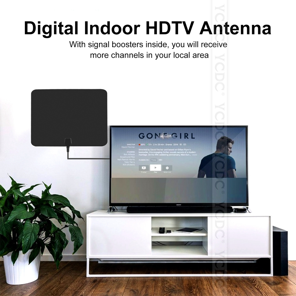 Ycdc Amplified Indoor Digital Hdtv 50 Mile Range With Power Zouhair Electronics Battery Backup Circuit Lan 1014 Antenna Tv 36db Uhf Vhf Fm Signal Supply Dtv Flat Hd High