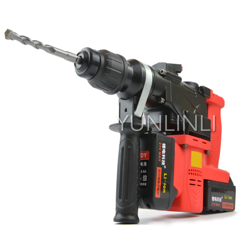 Rechargeable Electric Hammer Pick Drill Wireless Multifunctional Lithium Battery Industrial Tool 0888