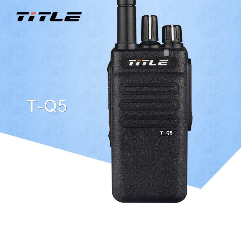 Two Way Radio TITLE T-Q5 Walkie Talkie UHF 400-470MHz 8W Power 16CH 5000mAh Dual PTT FM Transceiver