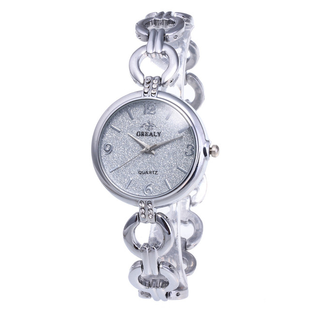 2019 Fashion Women Watch Crystal Stainless Steel Dress Analog Quartz Wrist Watch