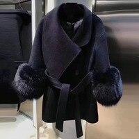 Для женщин куртка зима толстые Обувь на теплом меху куртка с длинными рукавами 2018 модная куртка с поясом